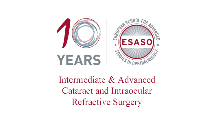 Intermediate i Advanced Cataract and Intraocular Refractive Surgery