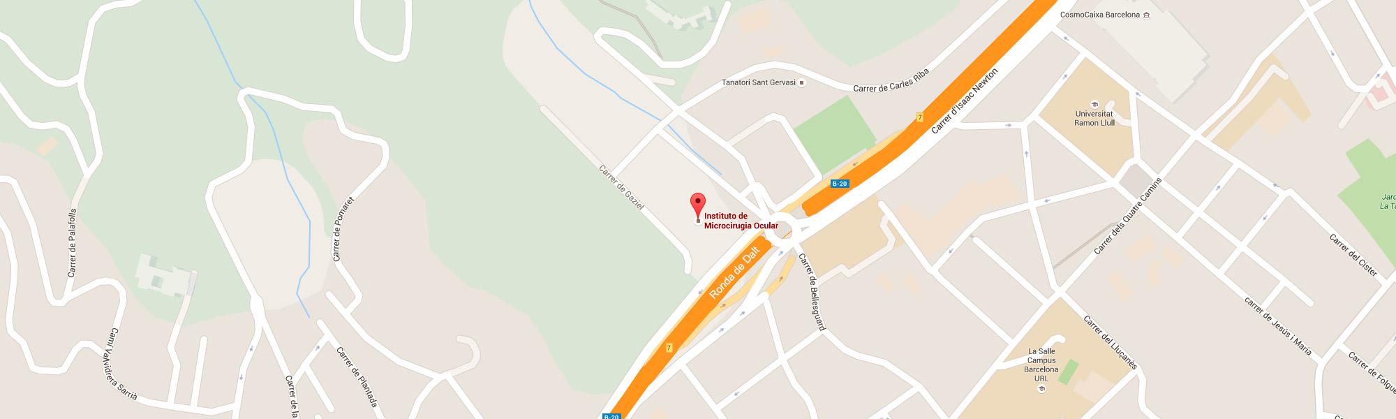 Institut de Microcirurgia Ocular google maps