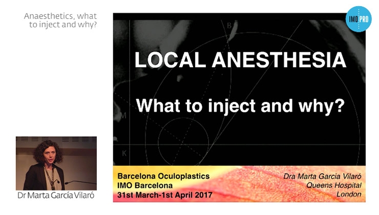 Anaesthetics, what to inject and why