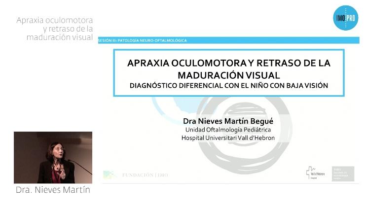 imagen ponencia apraxia oculomotora y retraso de la maduración visual