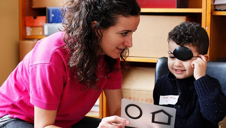 imatge programa salut ocular Fundació IMO - LaCaixa Badalona