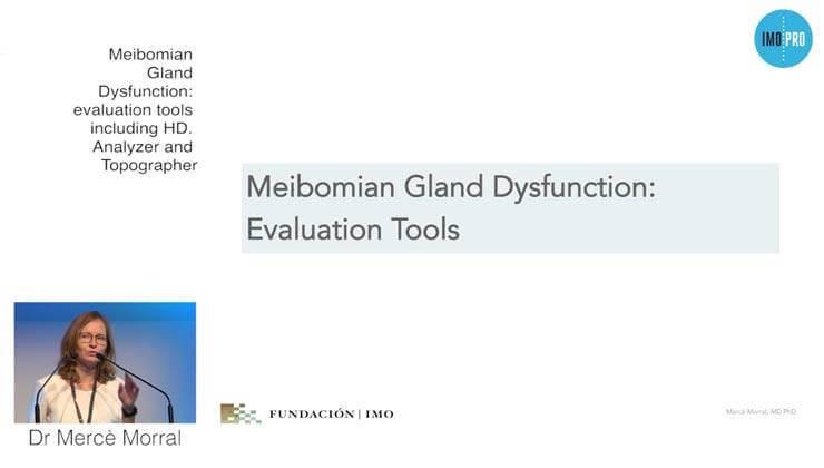 fotografía Dr.a Morral, ponencia Meibomian Gland Dysfunction