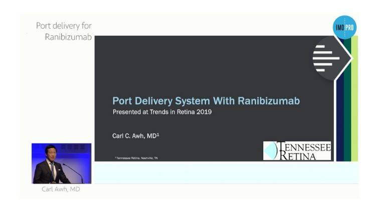 Port delivery system with Ranibizumab
