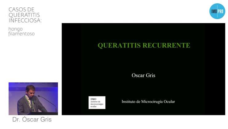 Casos de queratitis infecciosa: hongo filamentoso