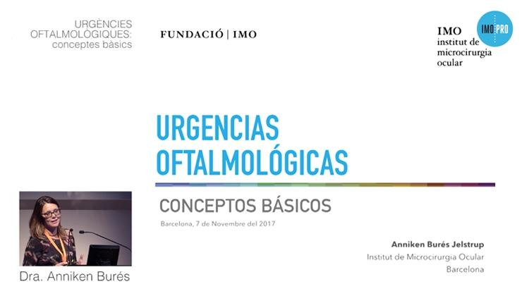 imagen presentación Dra. Burés: Urgencias oftalmológicas