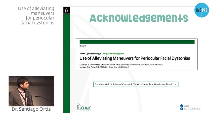 Use of alleviating maneuvers for periocular facial dystonias
