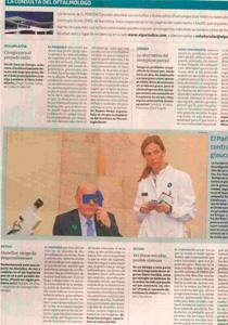 Artículo El Periódico consulta del oftalmólogo