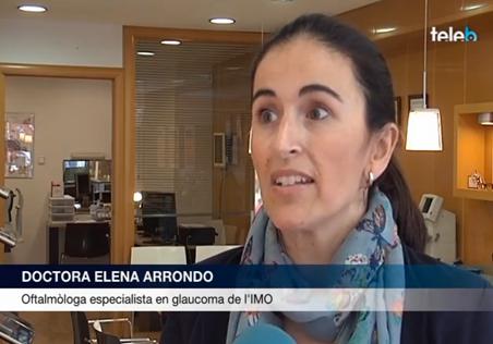 La Dra Elena Arrondo durante una entrevista en TV Badalona